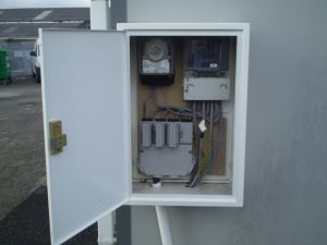 Repaired surface mounted meter box