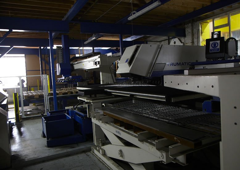 Ritherdon - TRUMPF Punching out Louvres