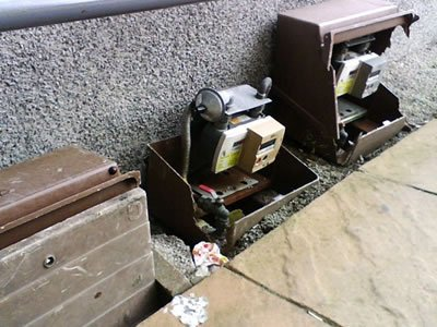 Damaged Surface Mounted Gas Meter Boxes