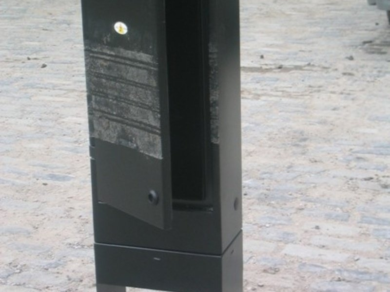 Tire marks on an untouched Ritherdon Service Pillar