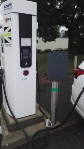 Electrical cabinet powering Ecotricity EV charging points