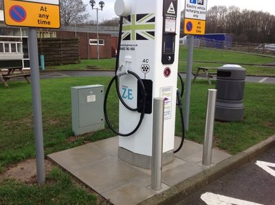 RB Cabinets Power Ecotricity Charge Points