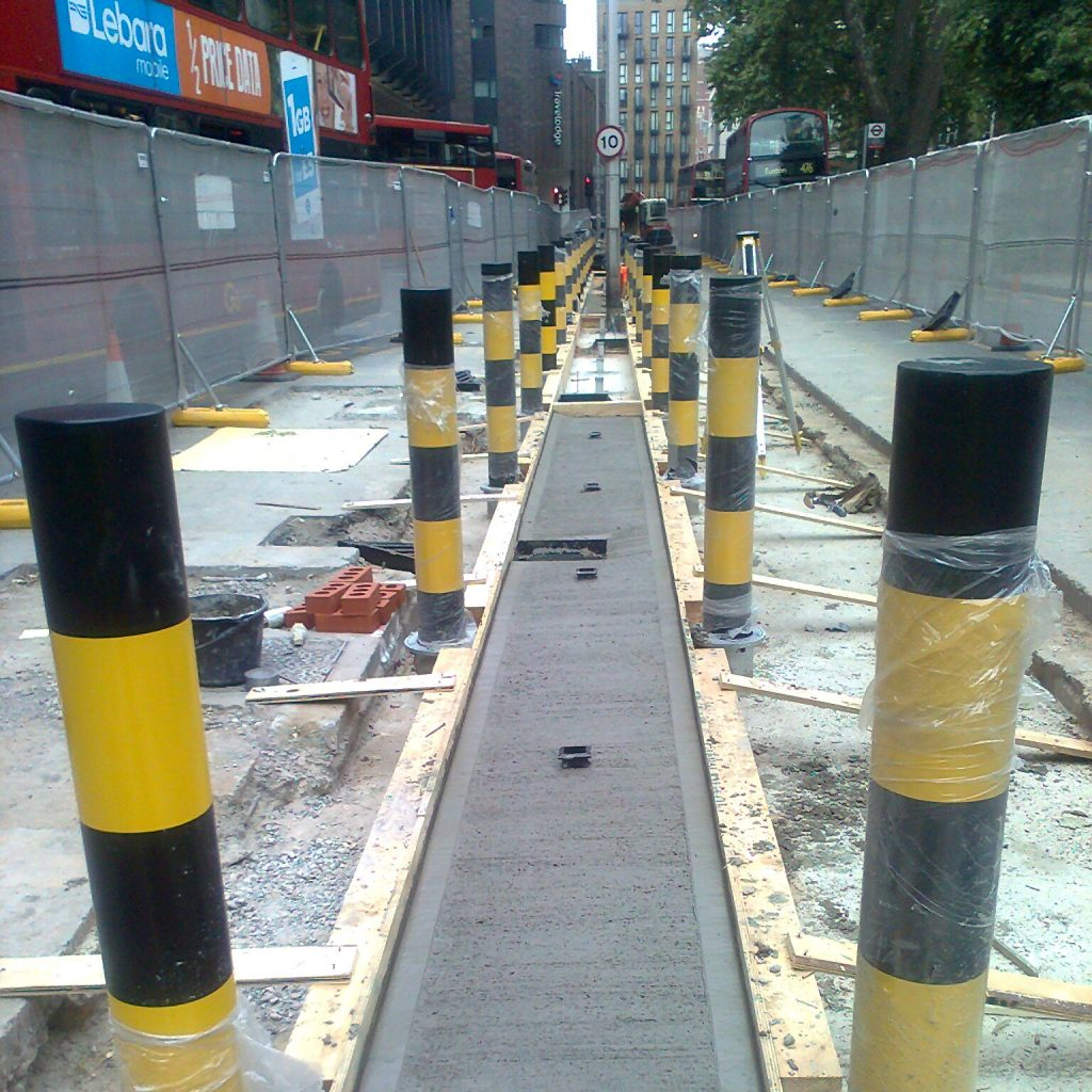 Ritherdon - Euston Bus Station - Installation of PGR and Orion retention sockets