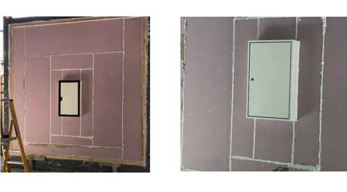 Smoke Test FireSeal Fire Rated Access Panels