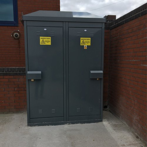 PS300 Permanent Supply Kiosk in Dark Grey Finished Installation