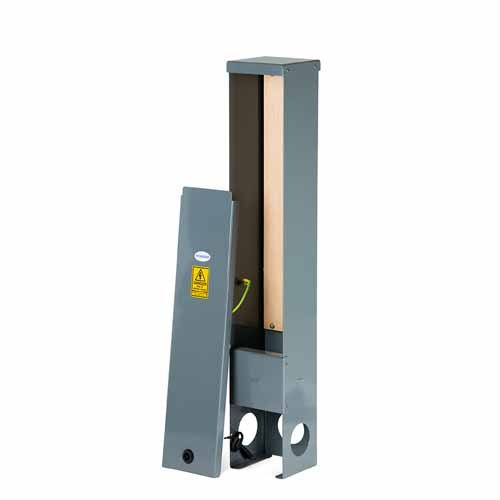 R150 Feeder Pillar - Root Mounted Pillar - Stainless Steel Powder Coated Dark Grey