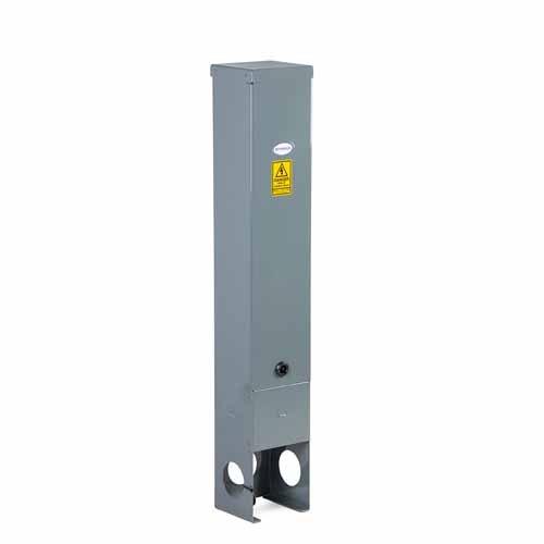 R150 Lift Off Door Feeder Pillar 150mm wide - Stainless Steel Powder Coated Dark Grey
