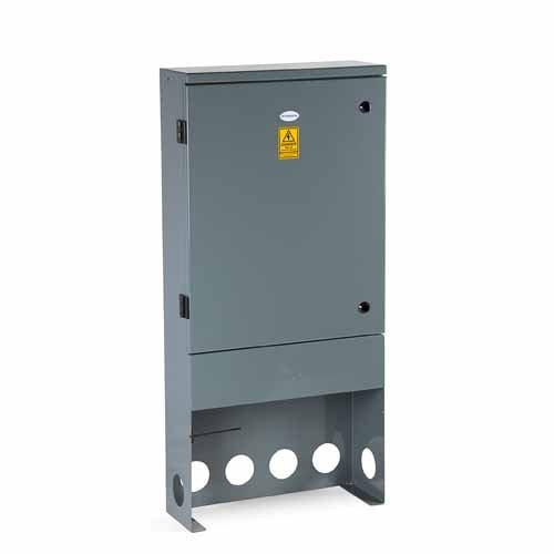 RH500 Hinged Door Feeder Pillar 500mm wide - Stainless Steel Powder Coated Dark Grey